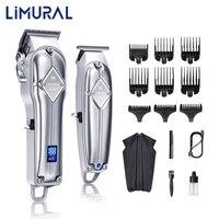 Limural Haar Clippers für Männer Cordless Schließen Schneiden T-Klinge Trimmer Kit Professional Hair Schneiden Kit Bart Trimmer Barbers