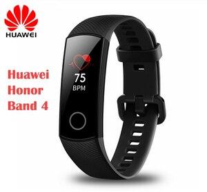 Image 1 - Huawei Honor להקת 4 Huawei חכם שעון IP68 עמיד למים Bluetooth צמיד שינה צג קצב לב מד צעדים ריצה שעון חם