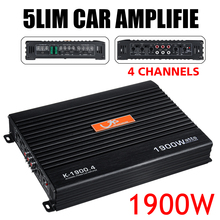 DC 12V 1900Watt 4 canaux amplificateur de voiture Audio stéréo haut-parleur basse voiture Audio amplificateurs Subwoofer voiture Audio amplificateurs