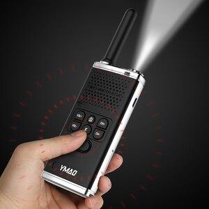 Image 5 - (2 pièces) YMAO M1 Portable talkie walkie Portable Radio 6W haute puissance UHF poche jambon lampe de poche Radio communicateur HF émetteur récepteur