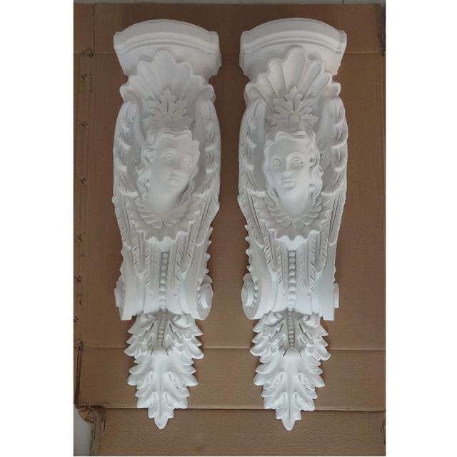 Décoration en relief stuc décor ornement baroque plastique PU 338x270mm g2199