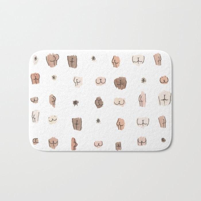 Feminine Art Butts Bath Mat Bathroom Kitchen Bedroon Floor Mat Home Entrance Rugs Kids Prayer Mat 40*60cm
