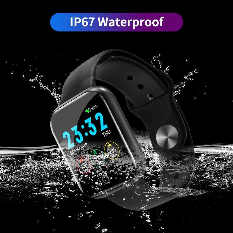 Hommes Bluetooth montre intelligente Ip67 caméra pression artérielle oxygène Ecg Usb charge bracelet intelligent Feminino rose grand écran livraison directe