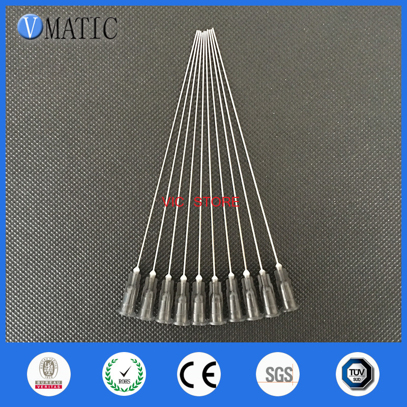 Free Shipping High Quality 22G Blunt Tip Needle 10cm Long Liquid Dispensing Adhesive Glue Ink Refilling 100mm Length