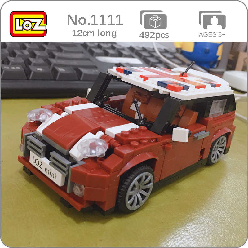 NEW 492Pcs Mini Blocks Technic Creator Racing Car Model Building Blocks Bricks