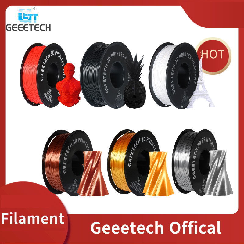 GEEETECH 1kg 1.75mm PLA 3D Printer Filament Consumables Material Vacuum Packaging Multicolor Fast Shipping