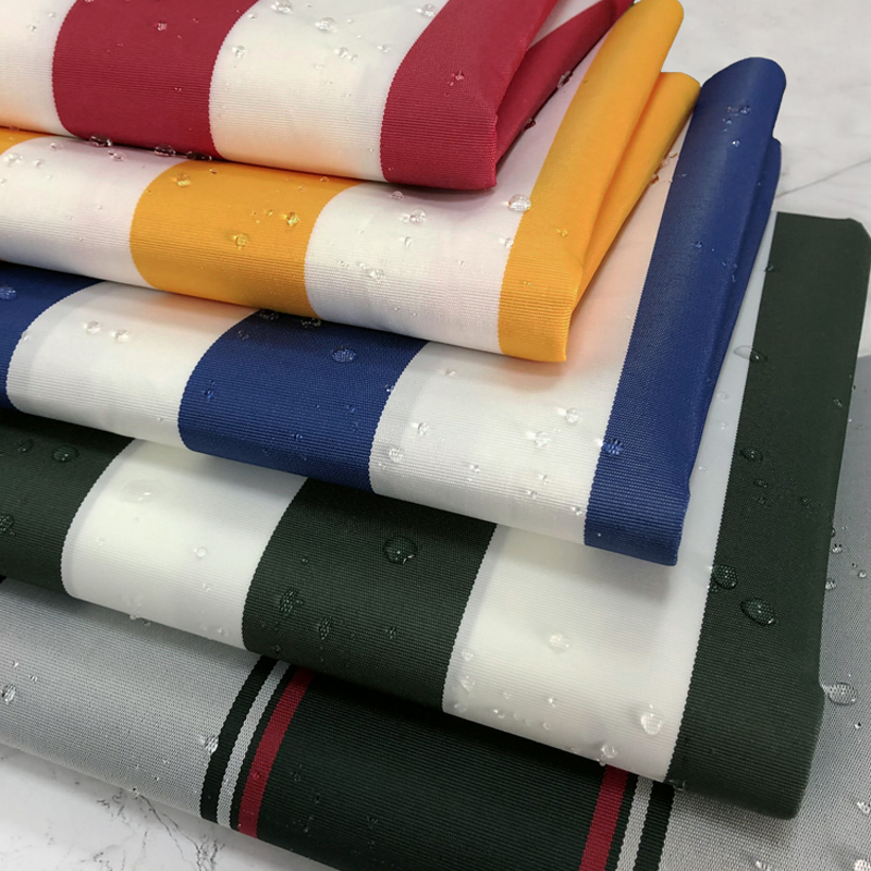 1M*1.5M Yarn-Dyed Oxford Fabric Waterproof Colorful Striped Cloth For Canopy Fabric.Sunshade,Awning,Carport.Beach Chair Fabric