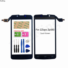 Touch Screen For ZOPO ZP580 Touch Screen Mobile Phone Touch Panel Front Glass Smart Sensor Digitizer Panel 3M Glue