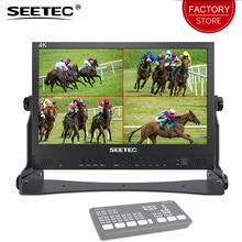 SEETEC ATEM جهاز تحويل صغير ATEM156 15.6 بوصة جهاز بث مباشر ساخن شاشة رباعية سبليت 4 مدخل HDMI مخرج كامل HD 1920x1080