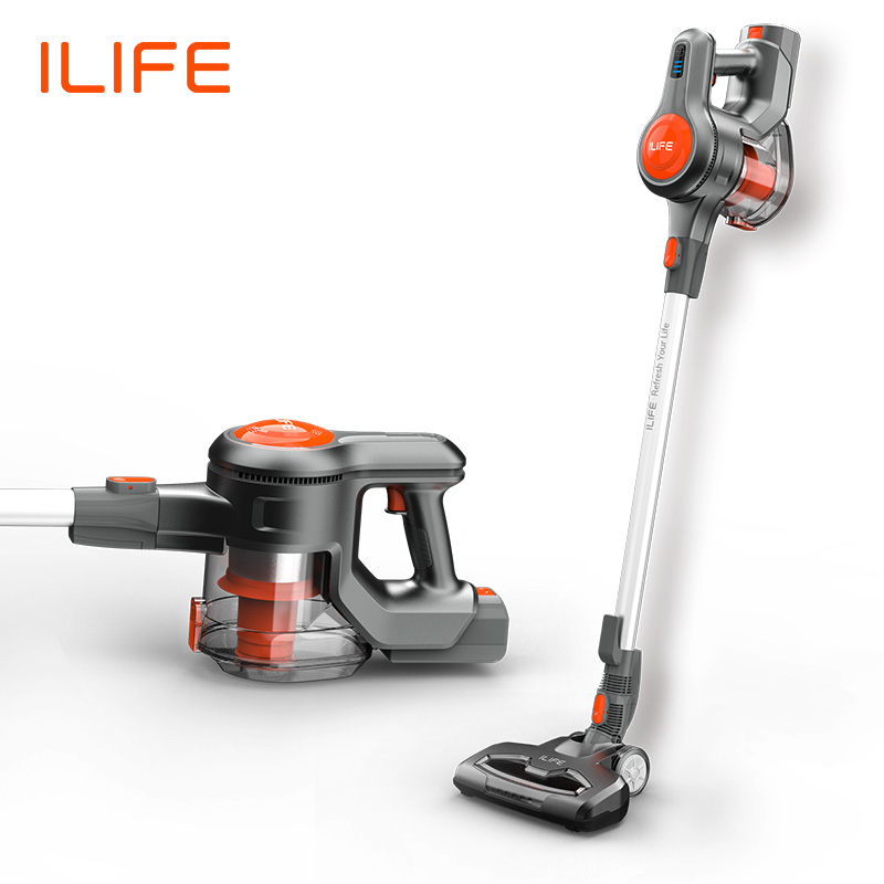 [New Arrival] ILIFE H70 Hand Stick Vacuum Cleaner 1.2L Big Dustbin 21000Pa Strong Suction Power