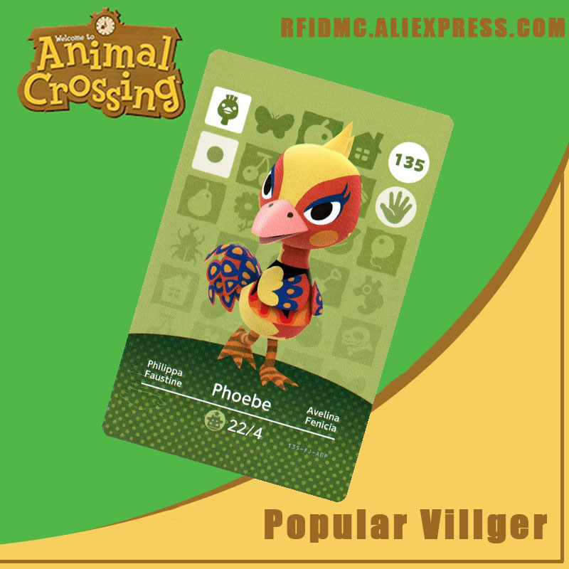 135 Phoebe Animal Crossing Card Amiibo For New Horizons