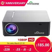 Vivicine 2020 M20 más nuevo 1080p proyector de cine en casa opción Android 9,0x1920x1080 Full HD LED proyector de video multimedia Beamer