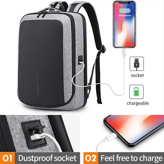 "Bange 2019 New Arrival Fashion Men 15""Laptop Backpack USB Recharge Technology Backpacks Anti-theft Waterproof Travel Backpack 2"