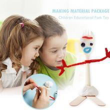 Детские Ранние развивающие игрушечные вилки модные DIY Пластиковые изготовление материала пакет случайный Семья Необходимые интеллектуальные игрушки