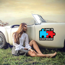 Personalità calda Cinta Adalah Di Mana-Mana Puzzle Seks Dewasa jenrem Mobil Yang Lucu Reflektif Mobil Stiker PVC impermeabile