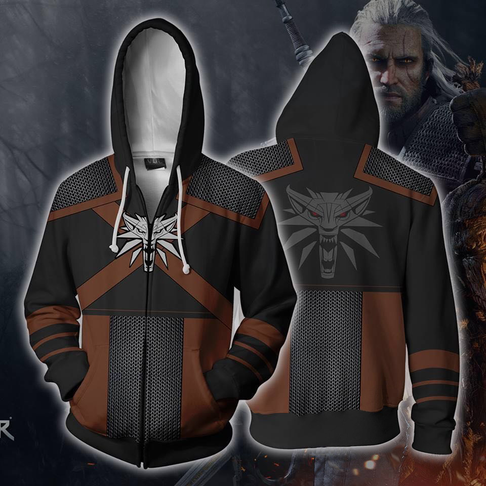 Casual 3d Witcher Hip Hop Hoodie Men Sweatshirt Japan Style Hip Hop Zipper Mens Hoodies One Piece Sweatshirts Clothing