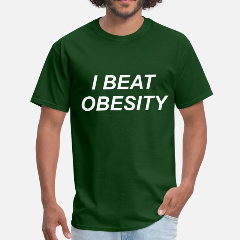 I Beat Obesity Chubby Fat Overweight Diet Present T Shirt For Mens Women Classic Graphic Tshirt Size Xxxl 4xl 5xl Female Hiphop image
