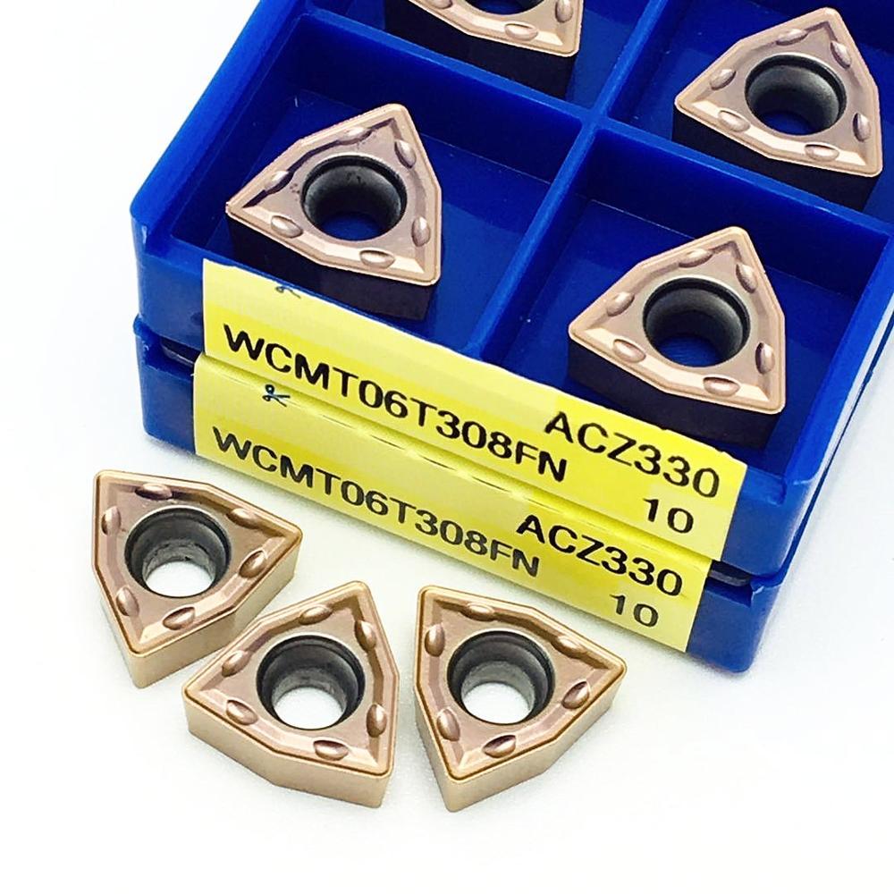 10pcs WCMT06T308FN ACZ330 CNC Carbide Insert For U Drill CNC NEW