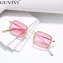 Diamond Square Sunglasses Women 2019 Men Rhinestone Vintage Luxury Retro Sun Glasses Brand Designer Small Eyewear