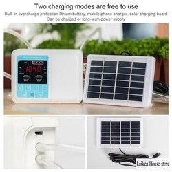 Inteligentny na energię słoneczną System nawadniania kropelkowego energii automatyczne urządzenie do podlewania roślin zegar do nawadniania zestaw do podlewania podwójna pompa wodna