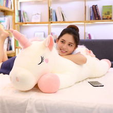 25-100CM Large Size kawaii Unicorn Plush Toys Stuffed Animal Unicorn Horse Doll Soft Children Home Decor Christmas Gifts Pillow