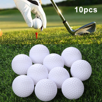 10 Pcs Golf Ball White Durable High Quality Soft Texture Ball Sports Tool Training Professional Indoor&Outdoor Air Ball\'s