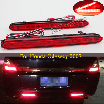 цена на 1 Pair Led Rear Bumper Reflector Light For Honda Odyssey 2007 Tail Stop Brake Lights Warning Car Parts Rear turn signal Fog lamp