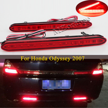 1 Pair Led Rear Bumper Reflector Light For Honda Odyssey 2007 Tail Stop signal Lights Warning Car Parts Rear Fog Brake lamp