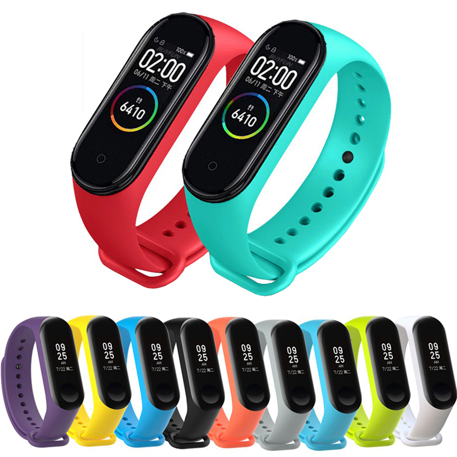 Colorful Mi Band 4 Accessories Pulseira Miband 4 Strap Replacement Silicone Wriststrap For Xiaomi Mi4 Smart Bracelet