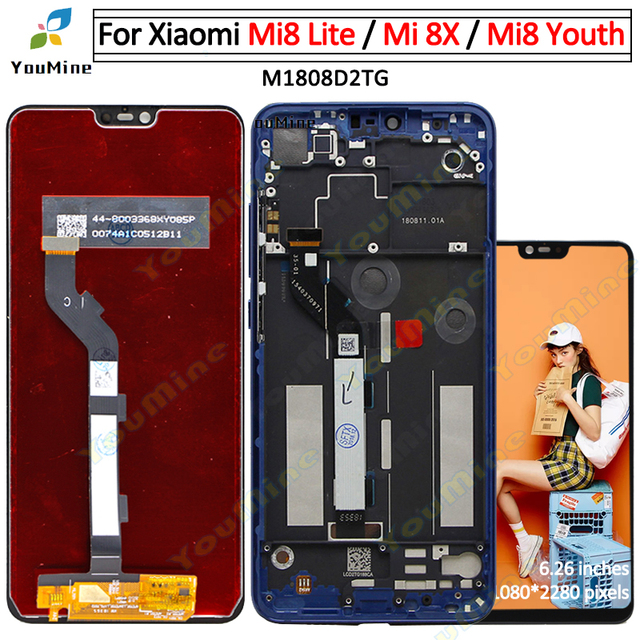 For Xiaomi Mi 8 Lite Mi8 Lite LCD Display Touch Screen Digitizer Assembly Replacement For Mi8 Youth Mi 8X LCD