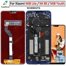Para xiaomi mi 8 lite mi8 lite display lcd tela de toque digitador assembléia substituição para mi8 juventude mi 8x lcd