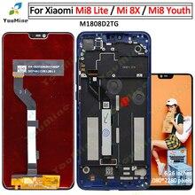 Xiaomi Mi 8 için Lite Mi8 Lite LCD ekran dokunmatik ekran Digitizer meclisi değiştirme Mi8 gençlik Mi 8X LCD