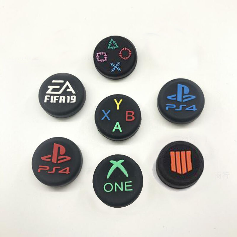 Thumb Stick Grip Cap Thumbstick Joystick Logo Cover Case For Sony Dualshock 3/4 PS3 PS4 Slim Xbox One 360 Switch Pro Controller