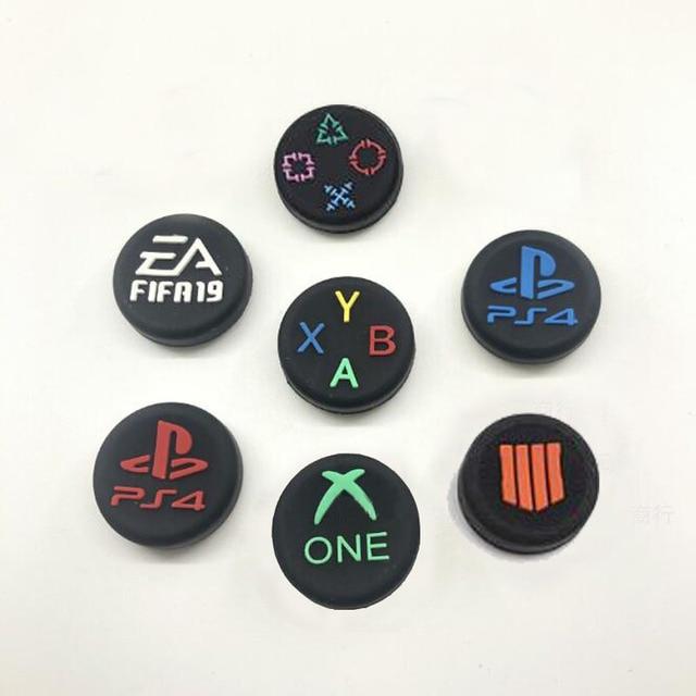 Thumb çubuk kavrama kap ABXY Logo Joystick kapak kılıf Sony Dualshock 3/4/5 PS3 PS4 PS5 Xbox One 360 ince anahtarı Pro denetleyici