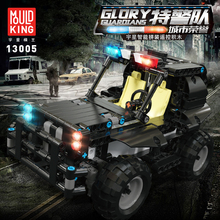 Building-Blocks Assembly-Toys Black Children for Police Car-Alliance Remote-Control Vehicle-Model