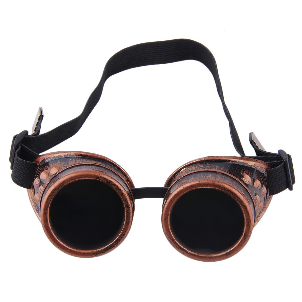 Professional Cyber Goggles Steam Glasses Vintage Welding Gothic Victorian Outdoor Sports Bicycle Sunglasses(China)