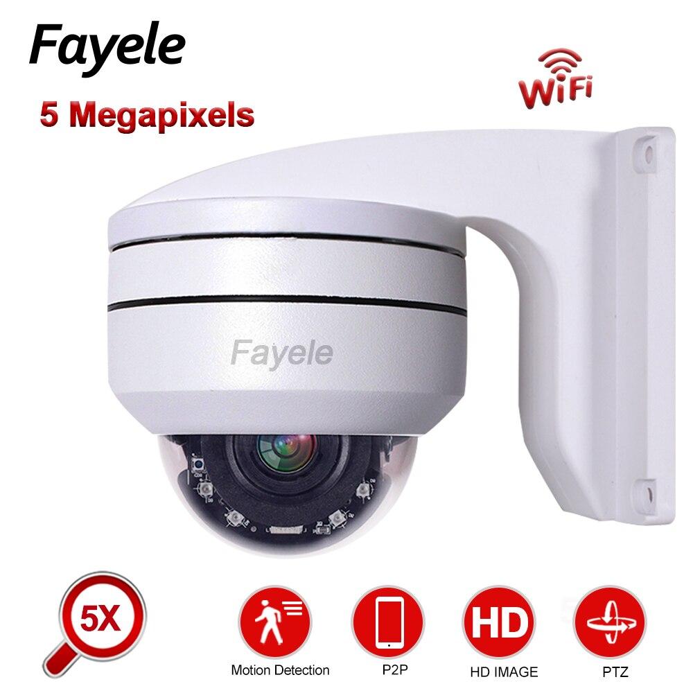 Security Wireless 2MP 5MP WiFi IP Camera 1080P Metal Dome PTZ Camera 5X ZOOM 2.7~13.5mm Lens IP66 IR50M P2P Camhi Audio ONVIF SD