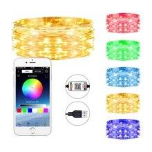 Guirnaldas de luces de Led decorativo de 1M 10M, decoración para fiesta en casa al aire libre, guirnalda de luces LED, decoración de Navidad, aplicación
