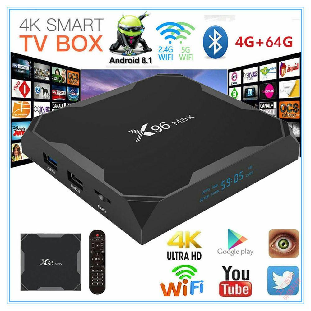 X96 Max Smart TV BOX Android 9.0 Amlogic S905X2 Quad Core 4GB  64GB 2.4G&5GHz Wifi BT 1000M 4K IPTV Set Top Box PK HK1 PLUS H96