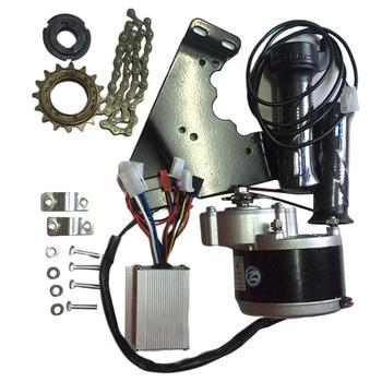 Kit de controlador de Motor de 24V y 250W, kit de conversión de bicicleta eléctrica con volante y soporte del Motor, cadena para bicicleta eléctrica de 20-28 pulgadas