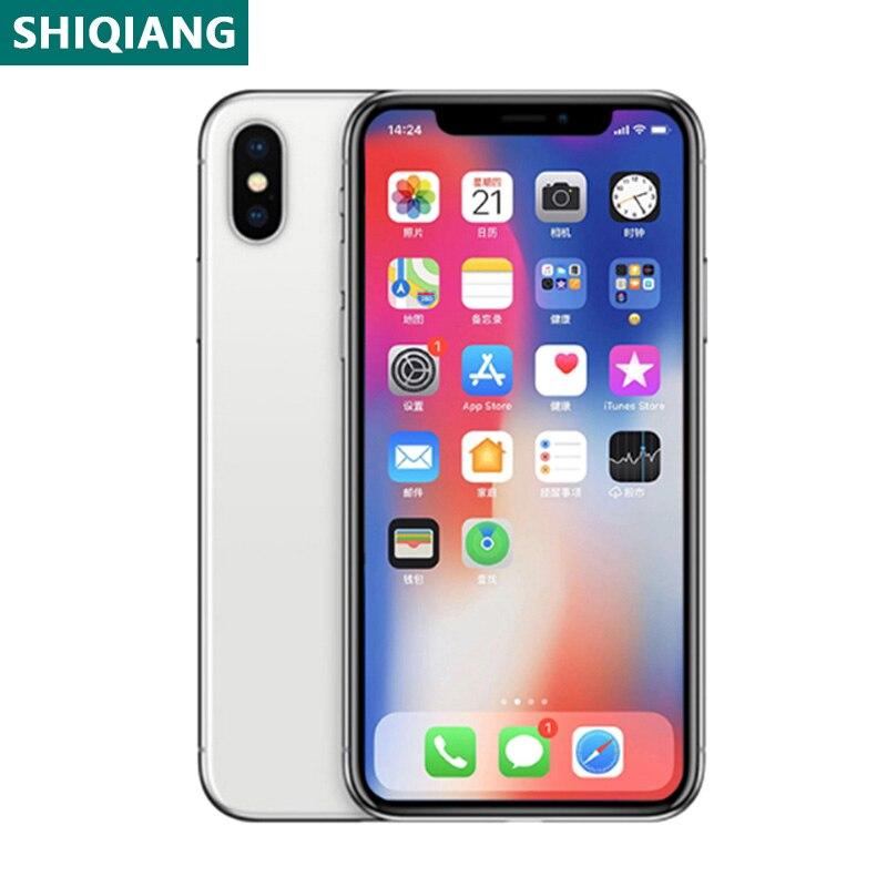 Used Original iPhone X 5.8 inch Cellphones Face Unlocked 4+64/256GB Smartphones Silver/Black 7+12MP 1SIM Card Mobile Phone