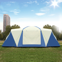 2020 Upgrade Double Layer 2Rooms 1Hall Anti rain Sunshade Outdoor Good Quality Family Camping Tent Party Tent Carpas