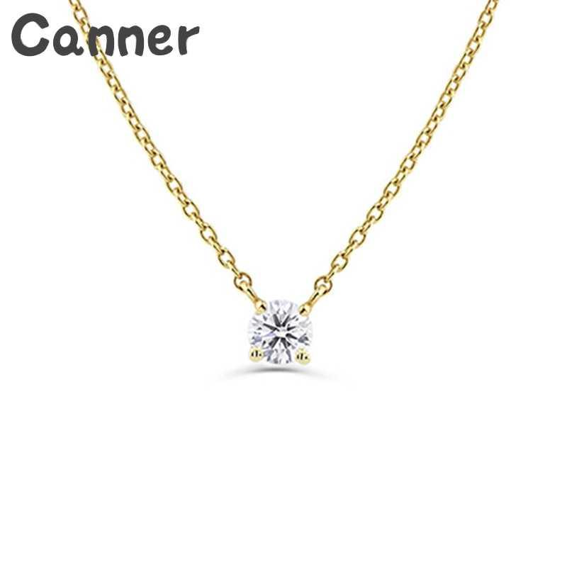 สร้อยคอเงิน 925 สร้อยคอคริสตัล Rhinestone สำหรับผู้หญิง Cubic Zircon Choker สร้อยคองานแต่งงาน Collier Femme ของขวัญ A40