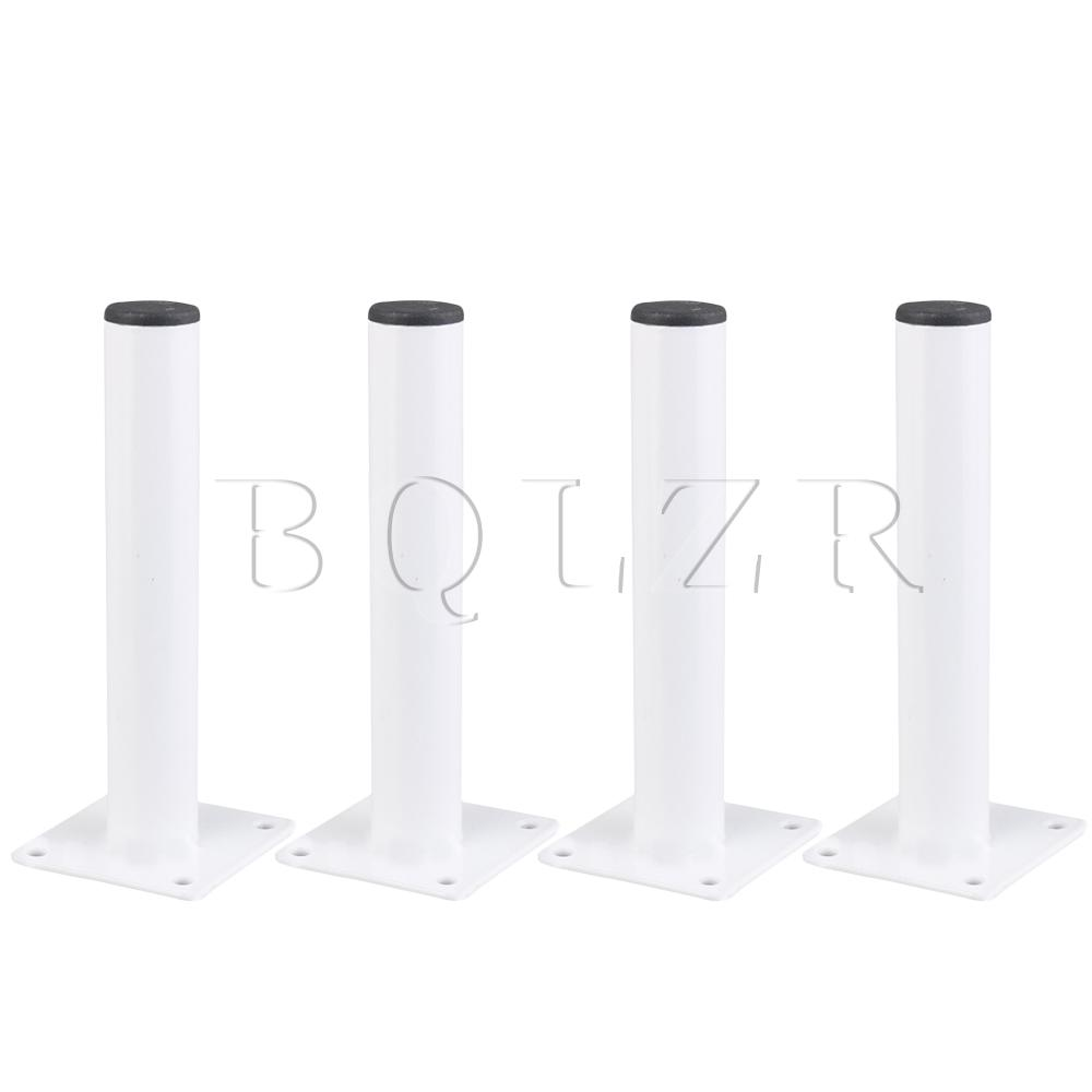 BQLZR 4x Stainless Steel Cabinet Metal Legs Sofa Table 15cm For Home White
