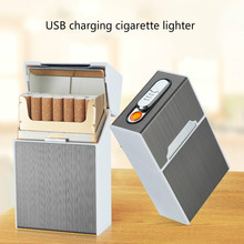 New arrival 2-in-1 Cigarette Case Box Lighter for Smoking Fl
