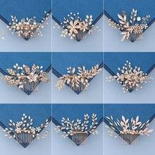 Свадебная расческа для волос аксессуары жемчужные стразы головной