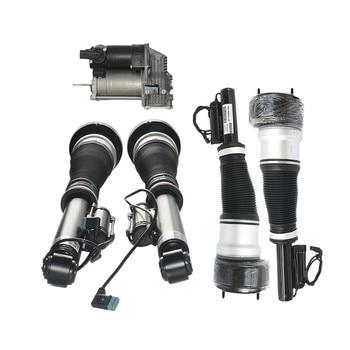 5 PCS Air Suspension Compressor Pump + Front & Rear Air Struts For Mercedes Benz S-Class W221 CL C216 2213204913, 2213201704
