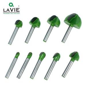 Image 5 - LA VIE jeu de mèches de routeur, nez, boule de 6mm, 5 pièces ou 4 pièces, boîte ronde, en carbure massif CNC Radius, MC0602