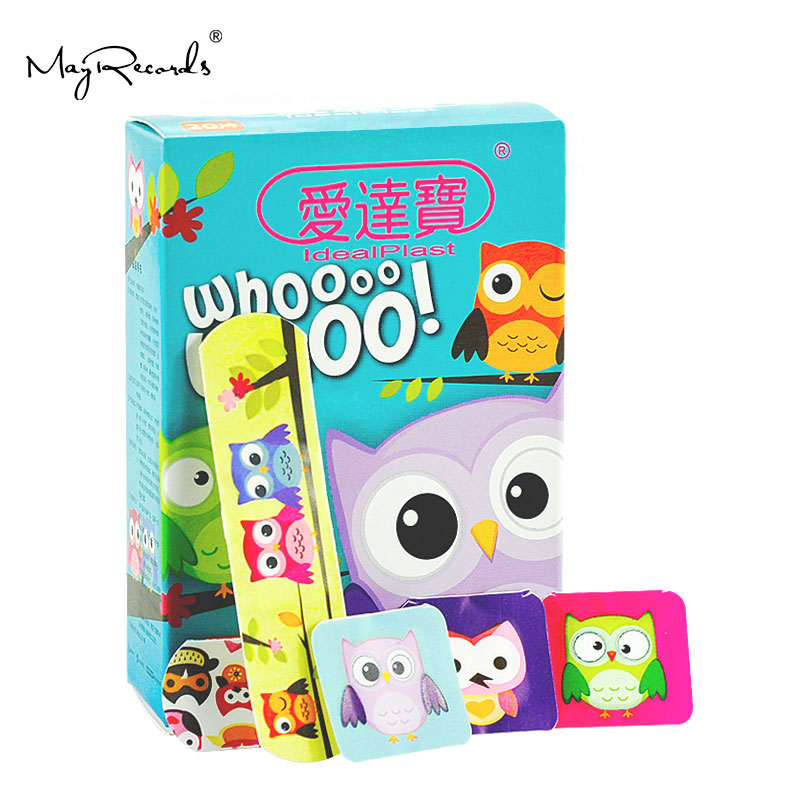 Free Shipping 60 PCs/3Boxes Assorted Waterproof Breathable Owl Cartoon Adhesive Wound Bandage Hemostasis First aid Band aid Kids-in Emergency Kits from Security & Protection