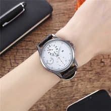 Famous Brand Watches Men's Watches Quartz Watches Faux Leather Strap Simple Wrist Watch Father Christmas Personalized Gift все цены